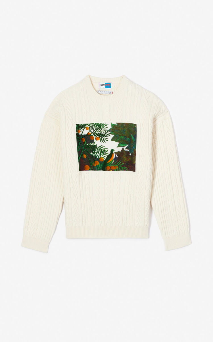 ECRU Printed wool jumper for women KENZO