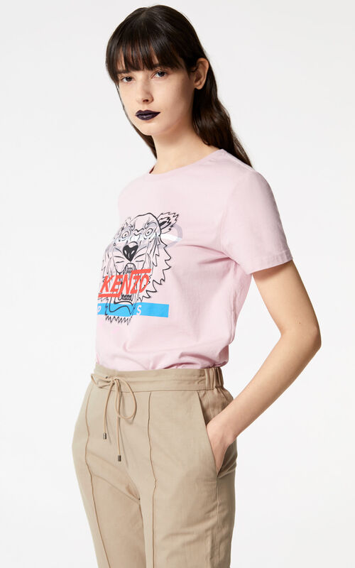 FLAMINGO PINK 'Hyper Tiger' t-shirt for women KENZO