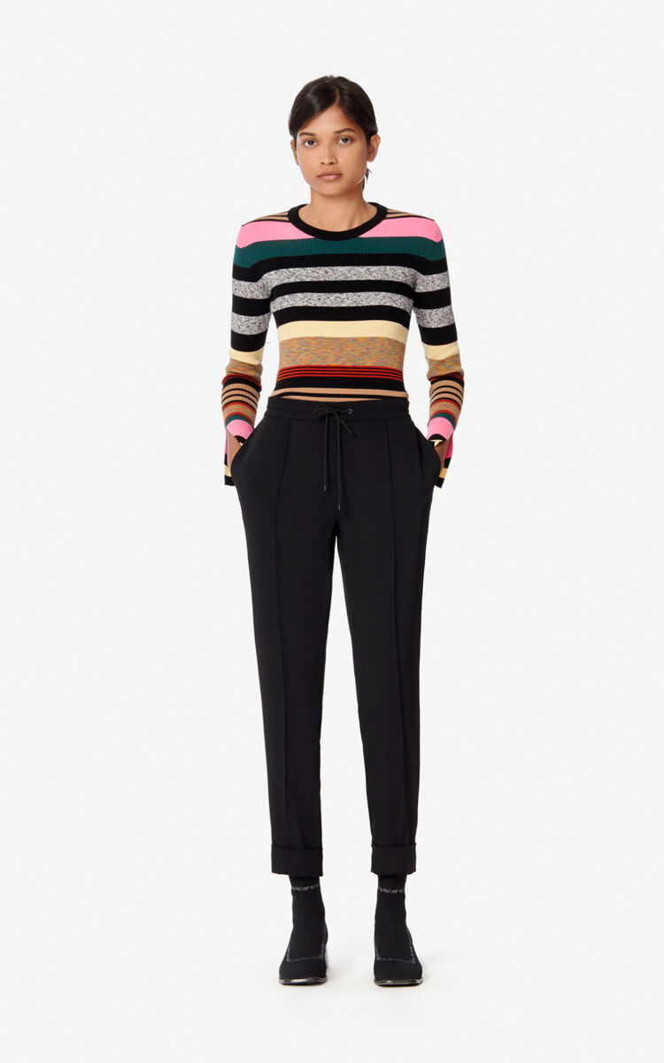 BLACK Pleated trousers for women KENZO