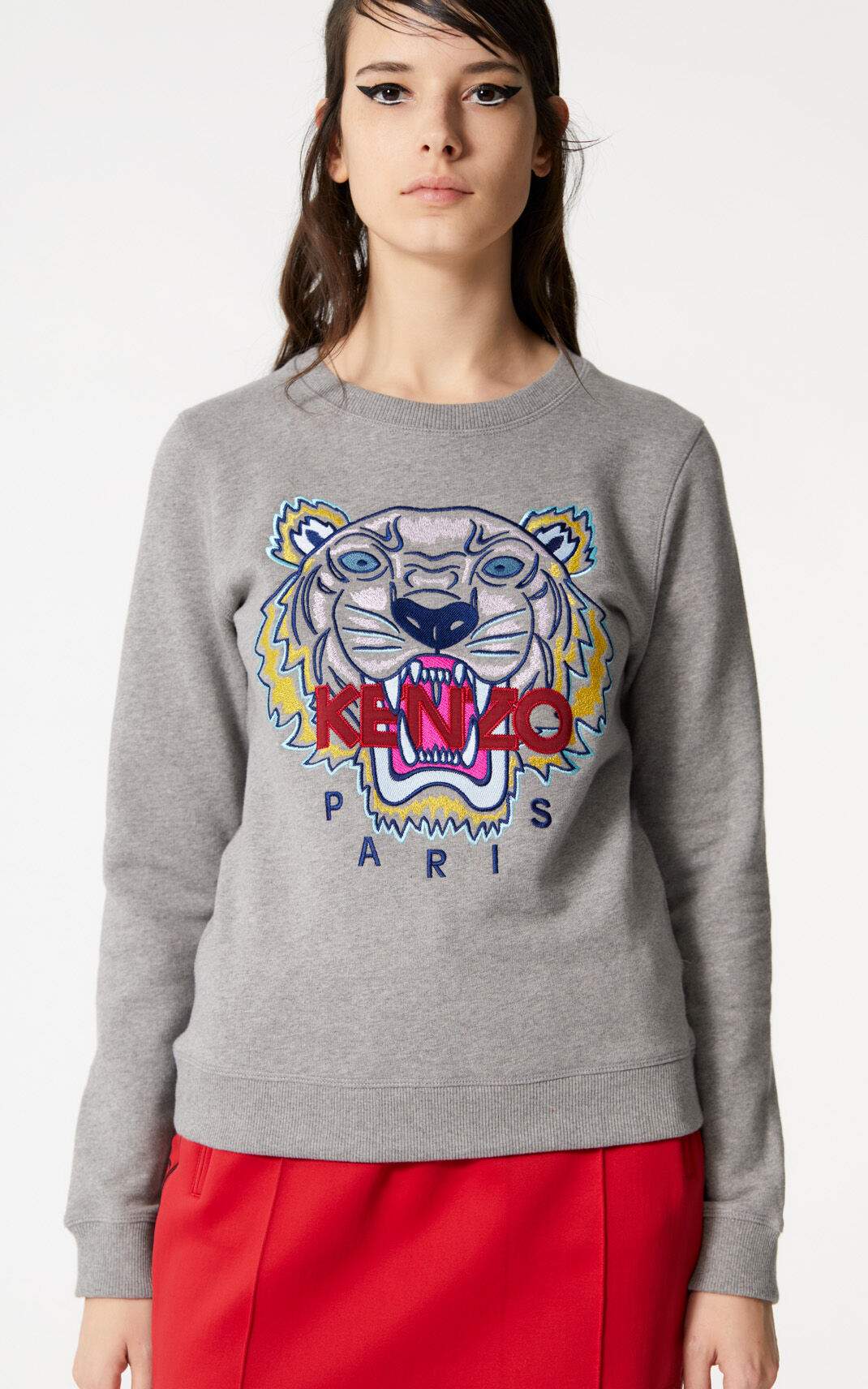 DOVE GREY Tiger sweatshirt for women KENZO