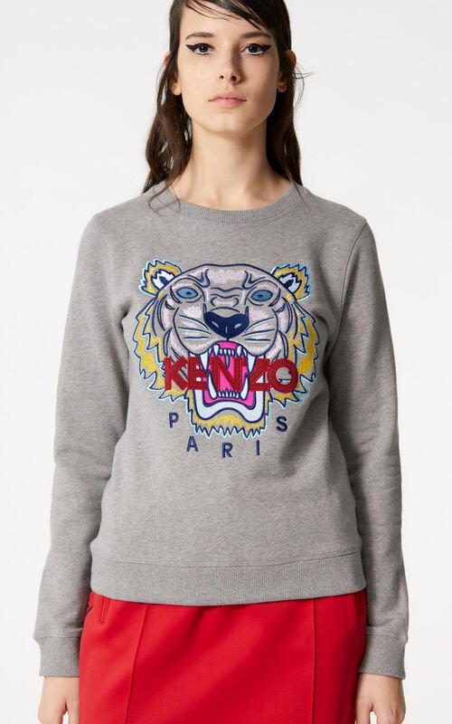 42b54dfa DOVE GREY Tiger sweatshirt for women KENZO ...