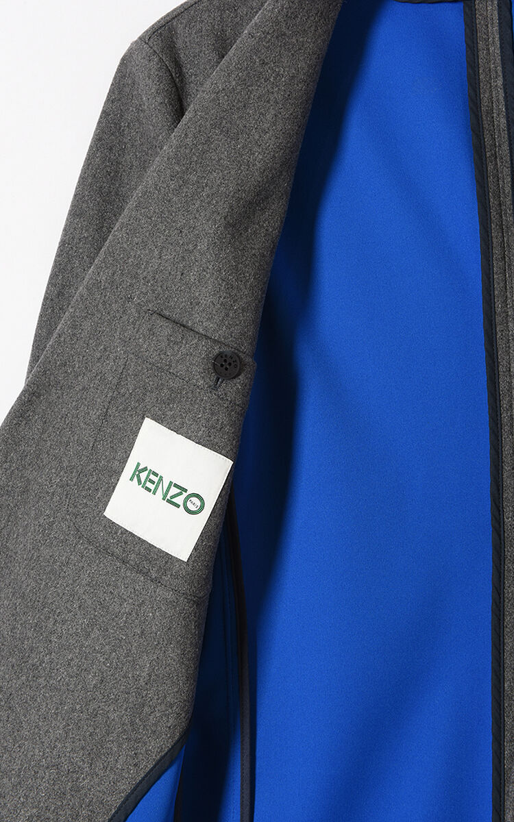 cd0579b3d6 Scuba Wool Coat for New collection 2 Kenzo | Kenzo.com