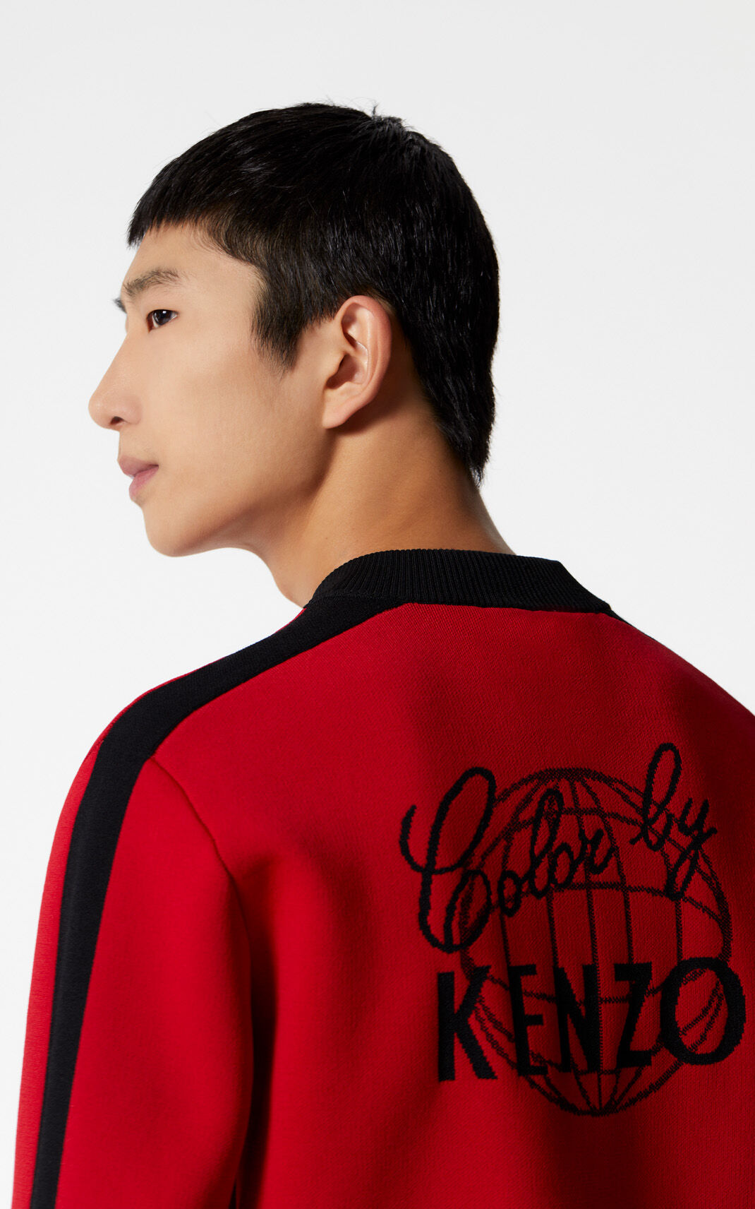 MEDIUM RED 'Color by KENZO' teddy jacket for men