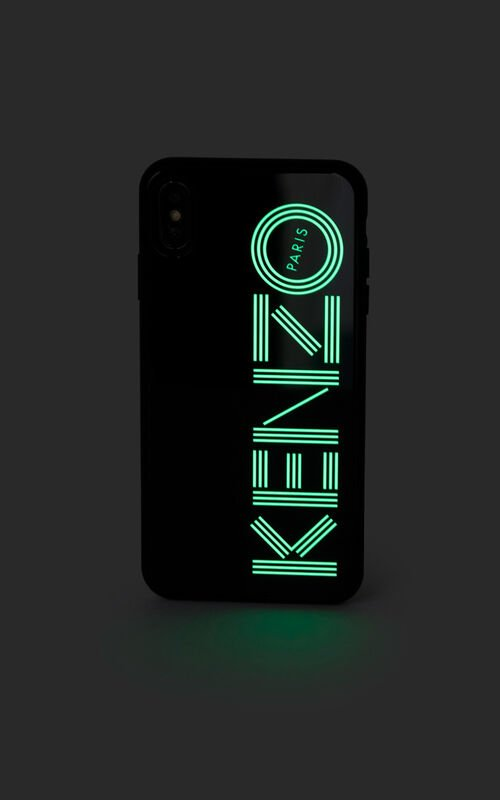 BLACK Fluorescent KENZO Logo case for iPhone XS Max for unisex