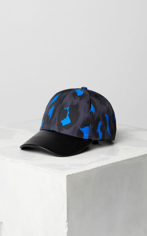 BLACK 'Leopard' print baseball cap for unisex KENZO