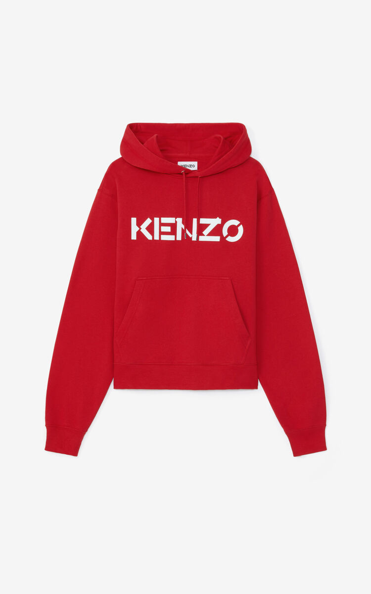 CHERRY KENZO Logo hooded sweatshirt for men