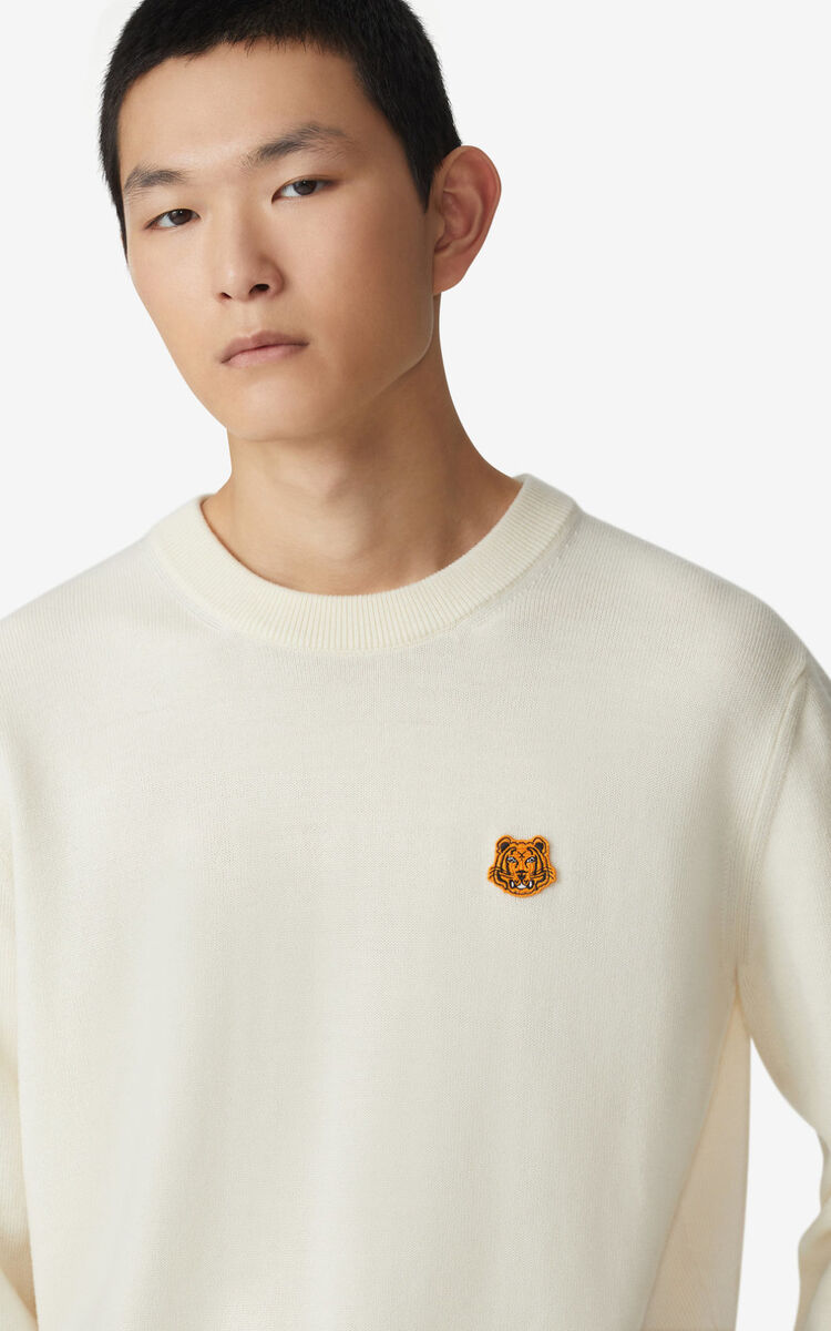 ECRU Tiger Crest jumper for men KENZO