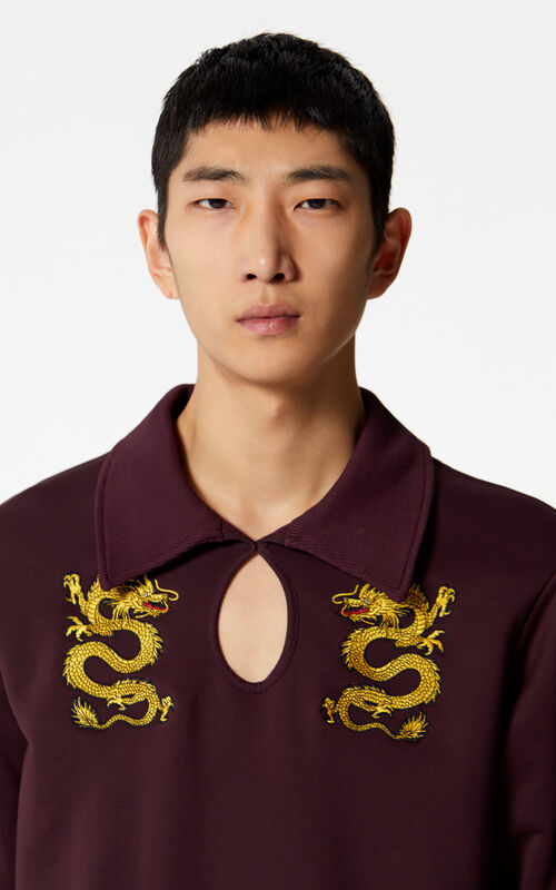 BORDEAUX 'Dragon' sweatshirt for men KENZO