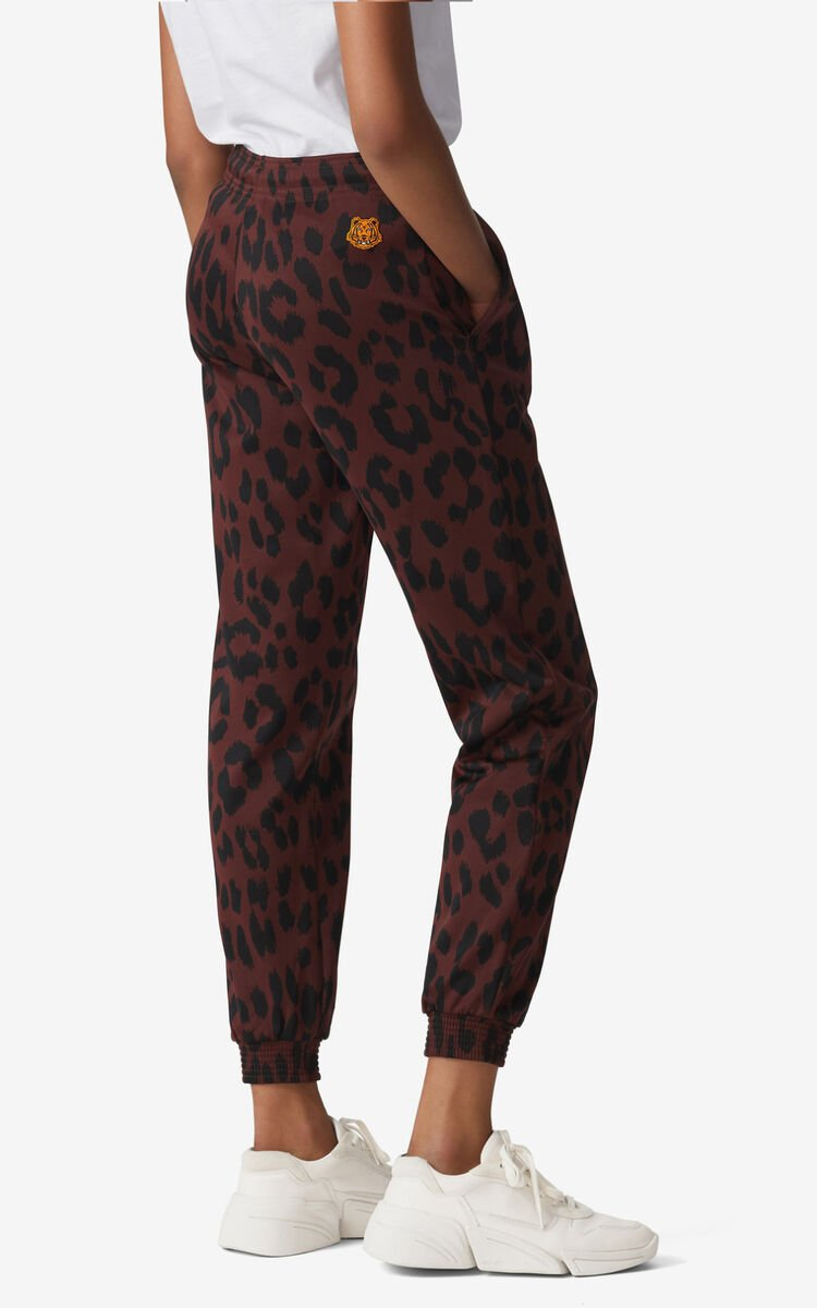 BORDEAUX 'Leopard' jogging trousers for women KENZO