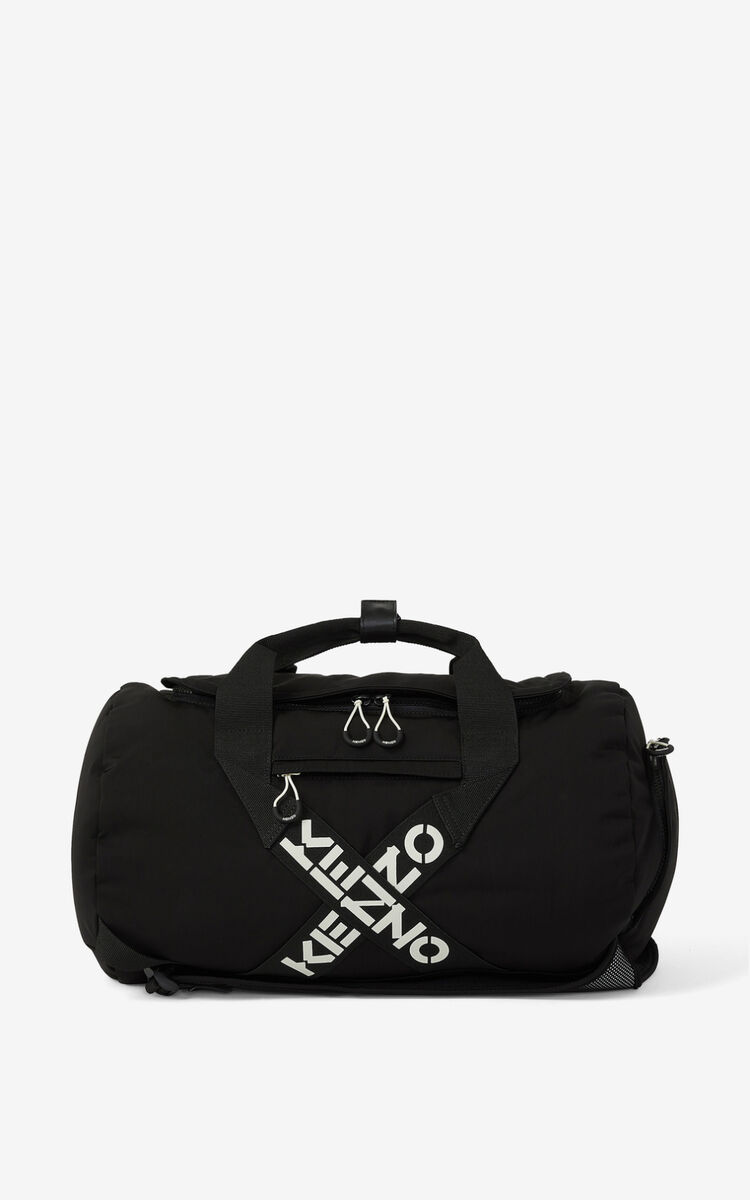 BLACK KENZO Sport 'Big X' travel bag for unisex