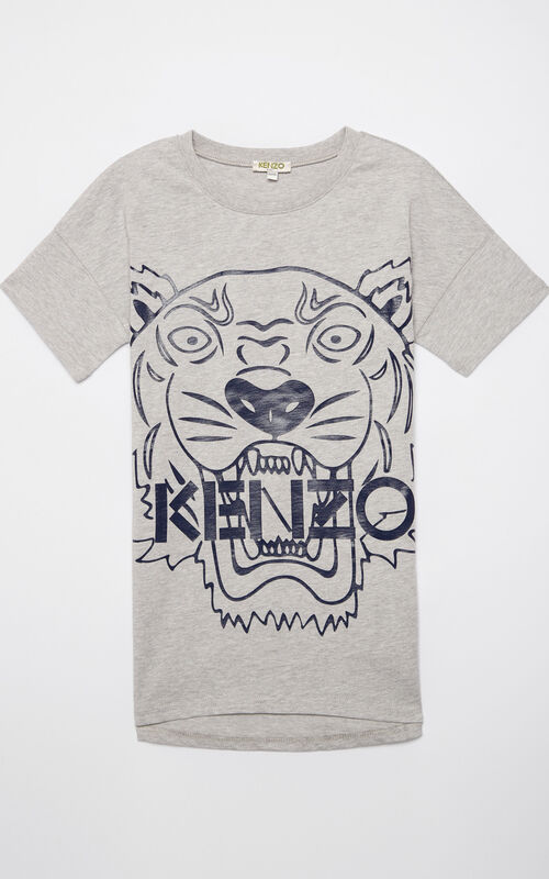 MIDDLE GREY Tiger t-shirt dress for women KENZO