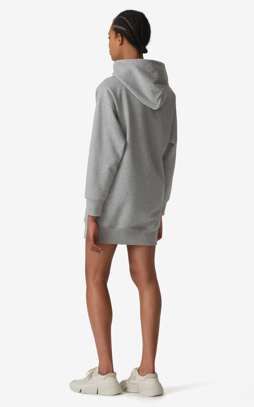 PEARL GREY KENZO Logo hooded sweatshirt dress for women