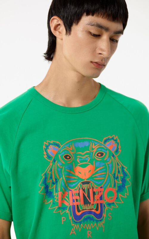 GRASS GREEN Tiger T-shirt for men KENZO
