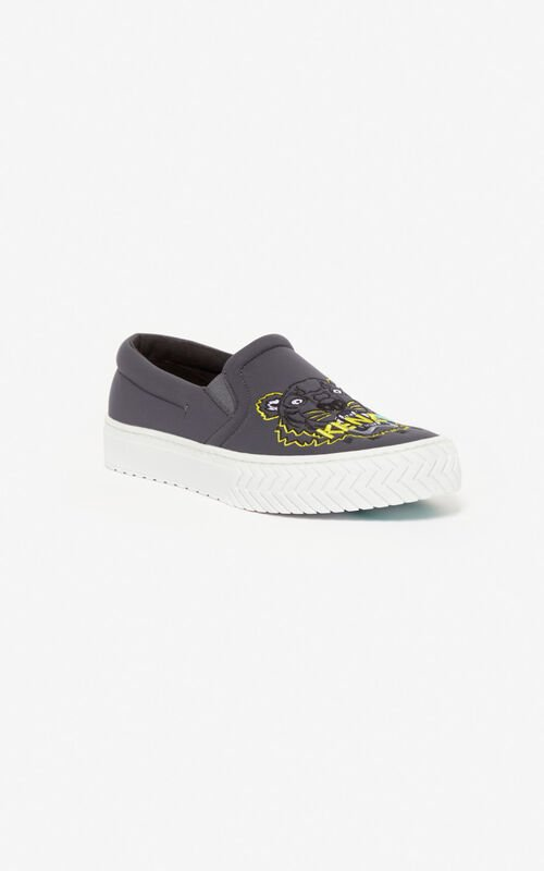 ANTHRACITE Tiger K-Skate slip-on shoes for unisex KENZO