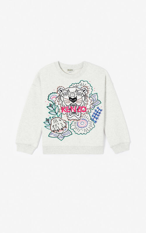 PALE GREY 'Disco Jungle' sweatshirt for women KENZO