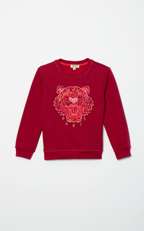 DEEP PINK Jungle Tiger Sweatshirt for women KENZO