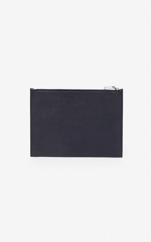 NAVY BLUE Kontrast A4 clutch for unisex KENZO