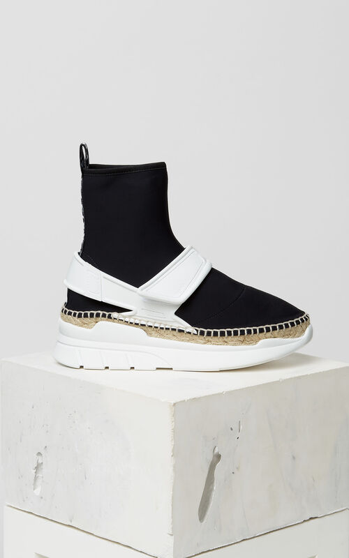 BLACK K-lastic high-top espadrilles for women KENZO
