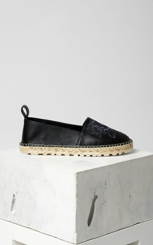 BLACK Geo-Tiger' Espadrilles  for women KENZO