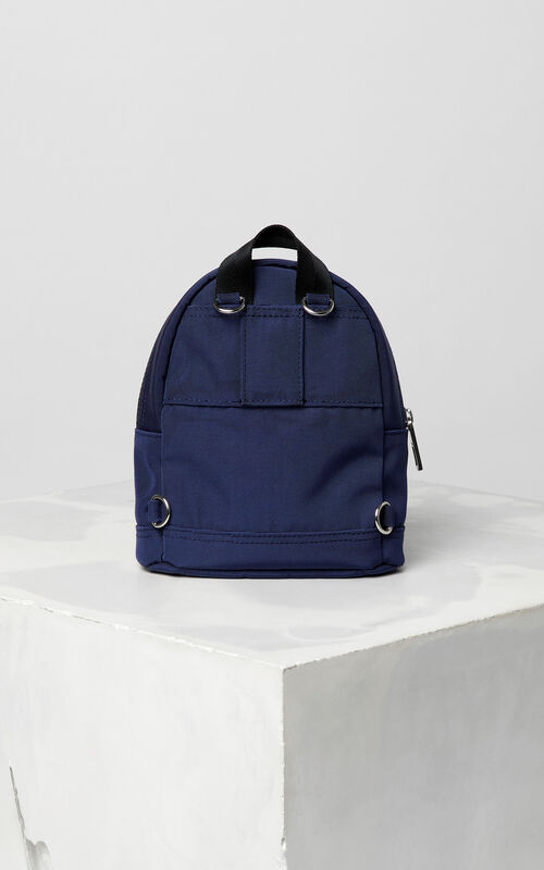 dbc0d688 ... NAVY BLUE Mini Tiger Canvas backpack for women KENZO
