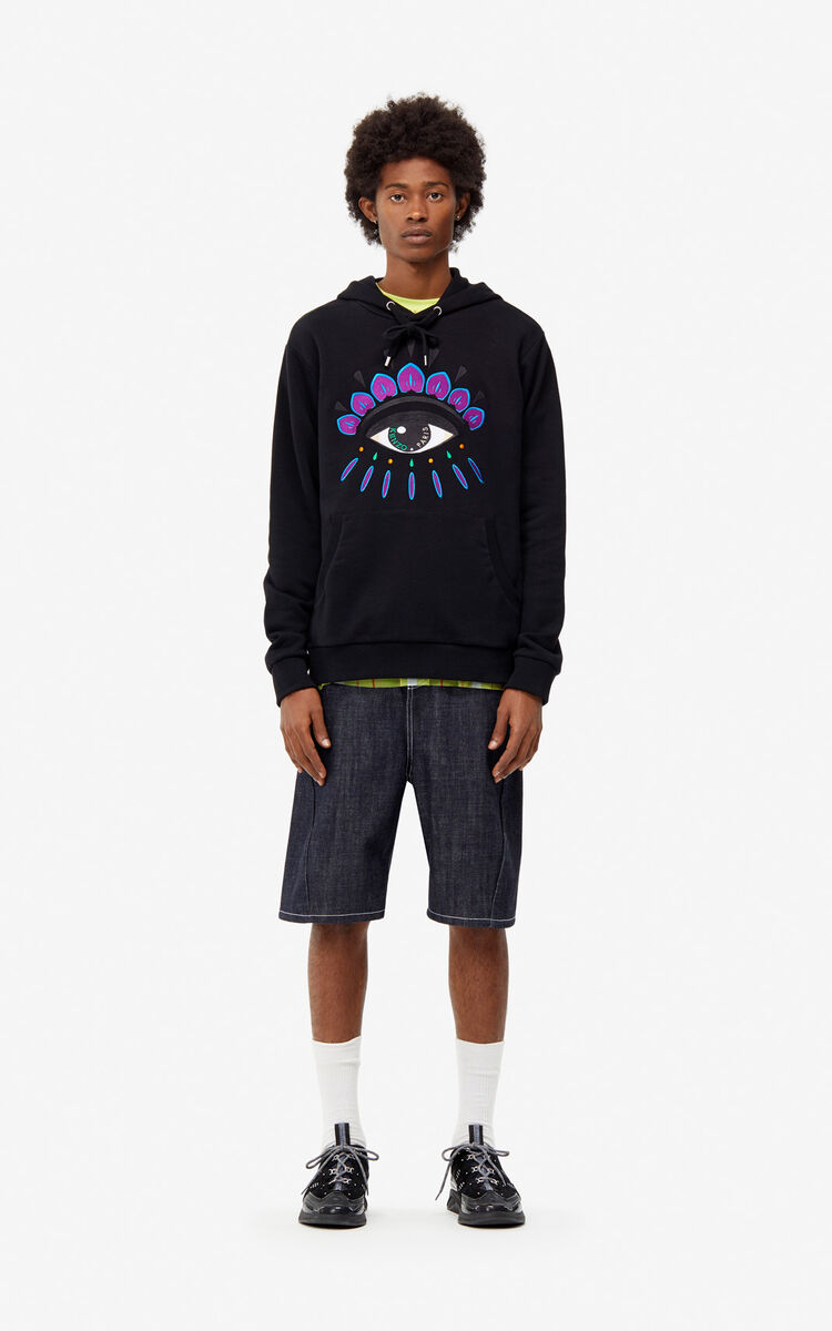 BLACK Eye hoody for men KENZO