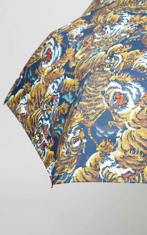 Flying Tiger Umbrella, MULTICOLOR, KENZO