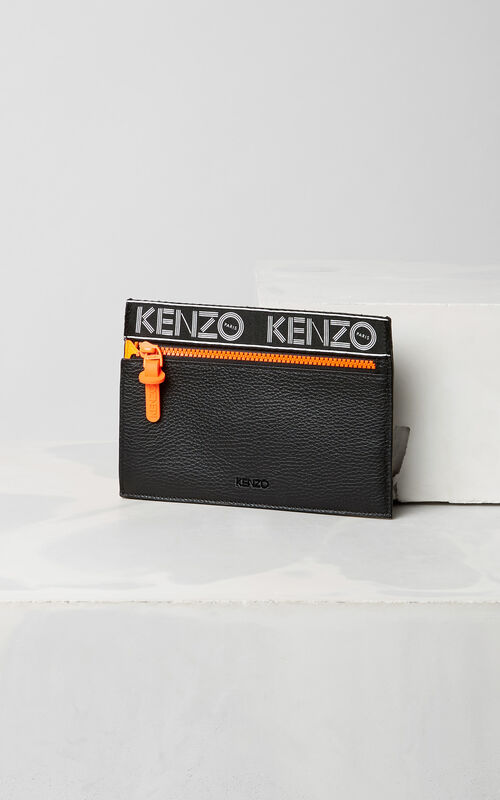 BLACK KENZO Sport A5 Clutch for men