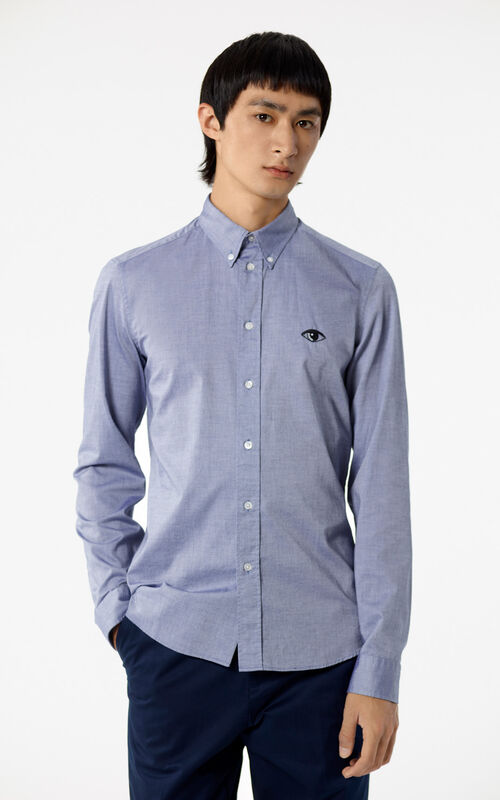 NAVY BLUE Eye shirt for men KENZO