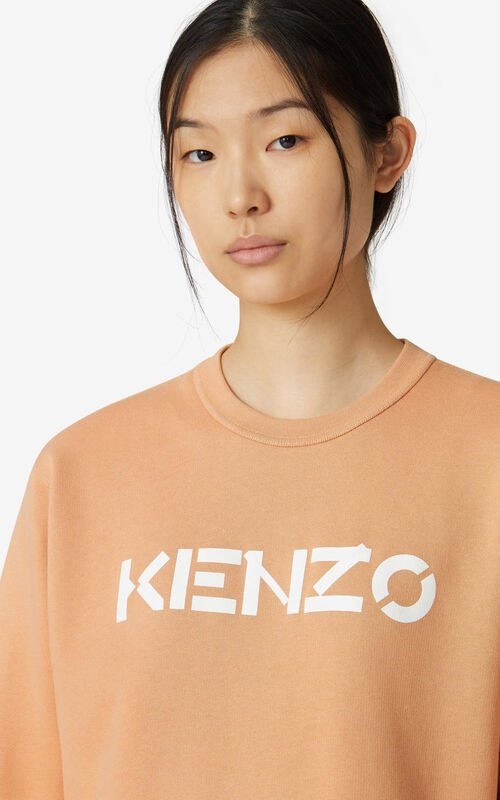 COGNAC KENZO Logo sweatshirt for women
