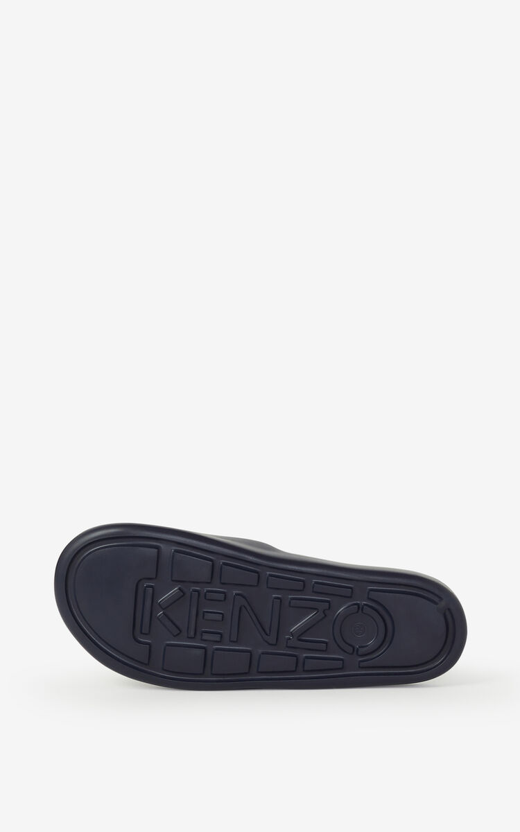 NAVY BLUE Pool Tiger flip flops for unisex KENZO