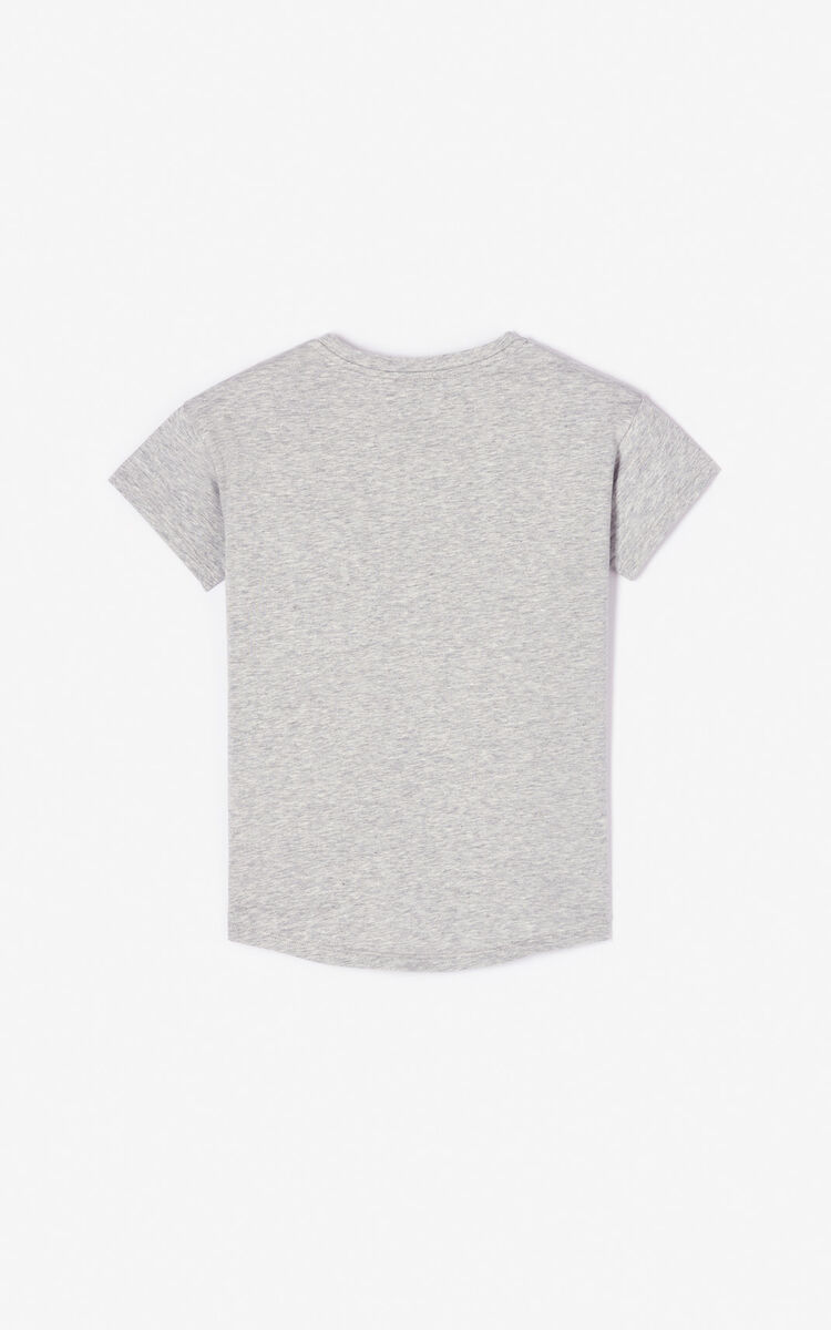 MIDDLE GREY KENZO logo T-shirt for men