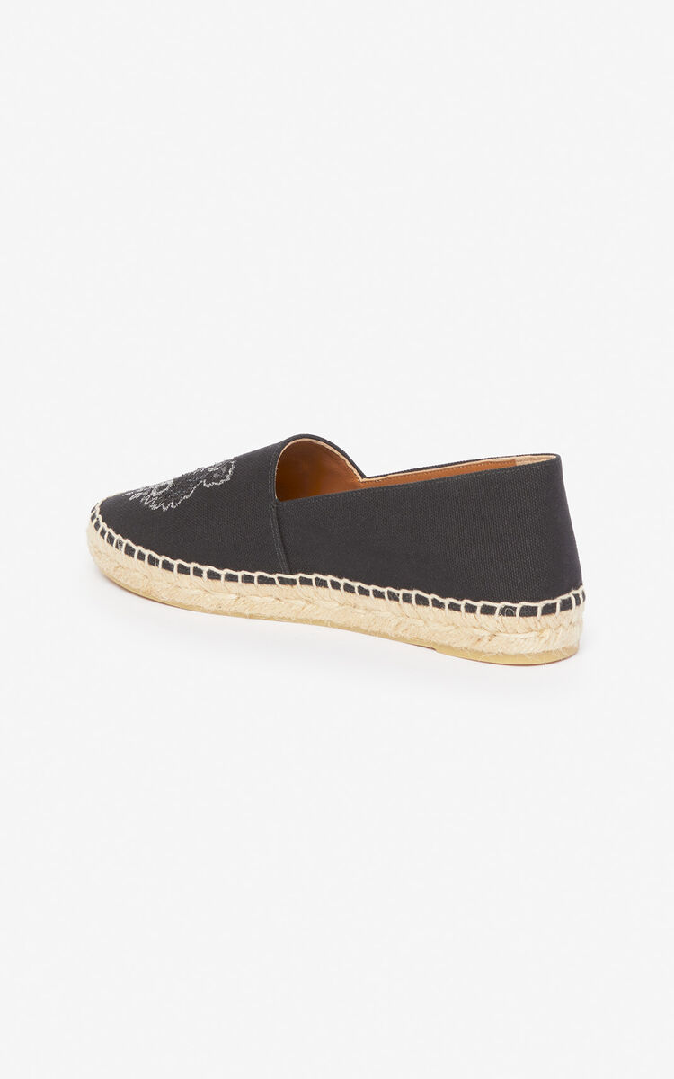 BLACK Tiger espadrilles  'Holiday Capsule' for women KENZO