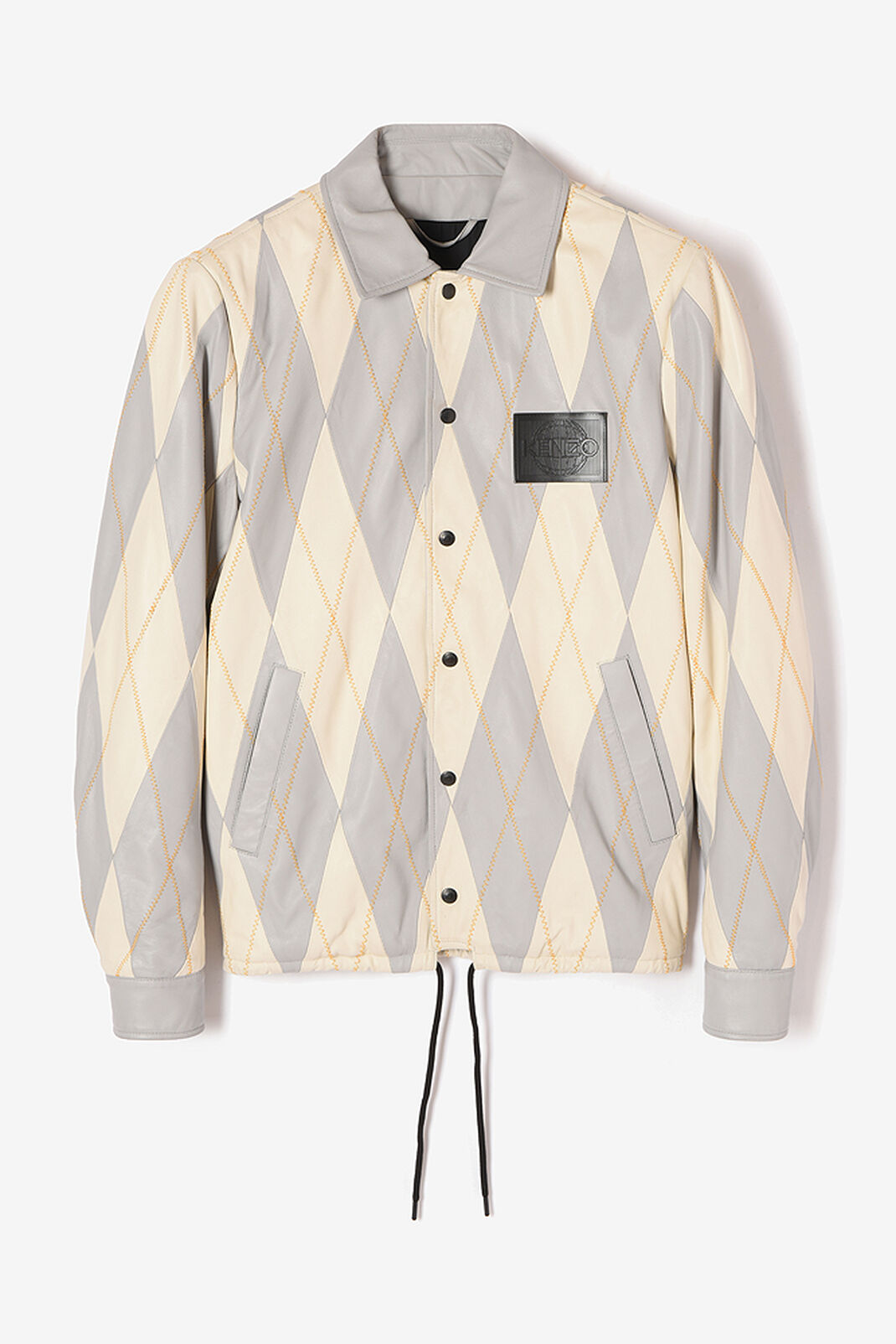 MIDDLE GREY Lambskin 'Check' Coat for men KENZO