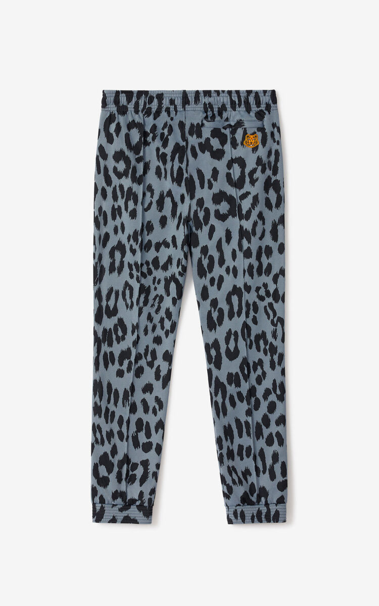 GLACIER 'Leopard' jacquard jogging trousers for men KENZO