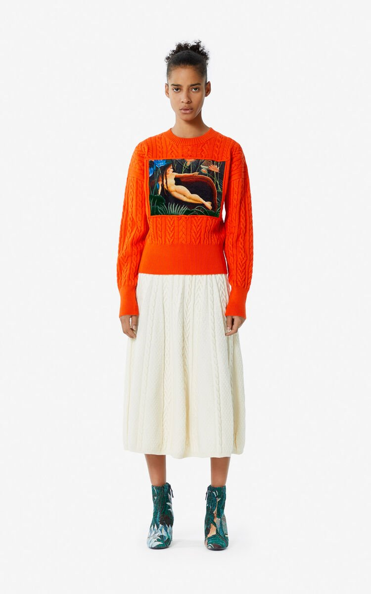 MEDIUM ORANGE Printed jumper for women KENZO