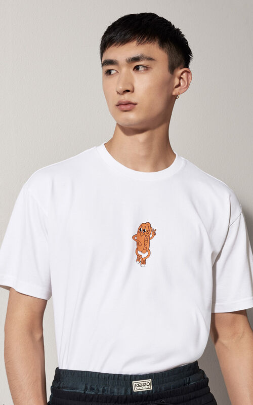 Badge  T-shirt, WHITE, KENZO