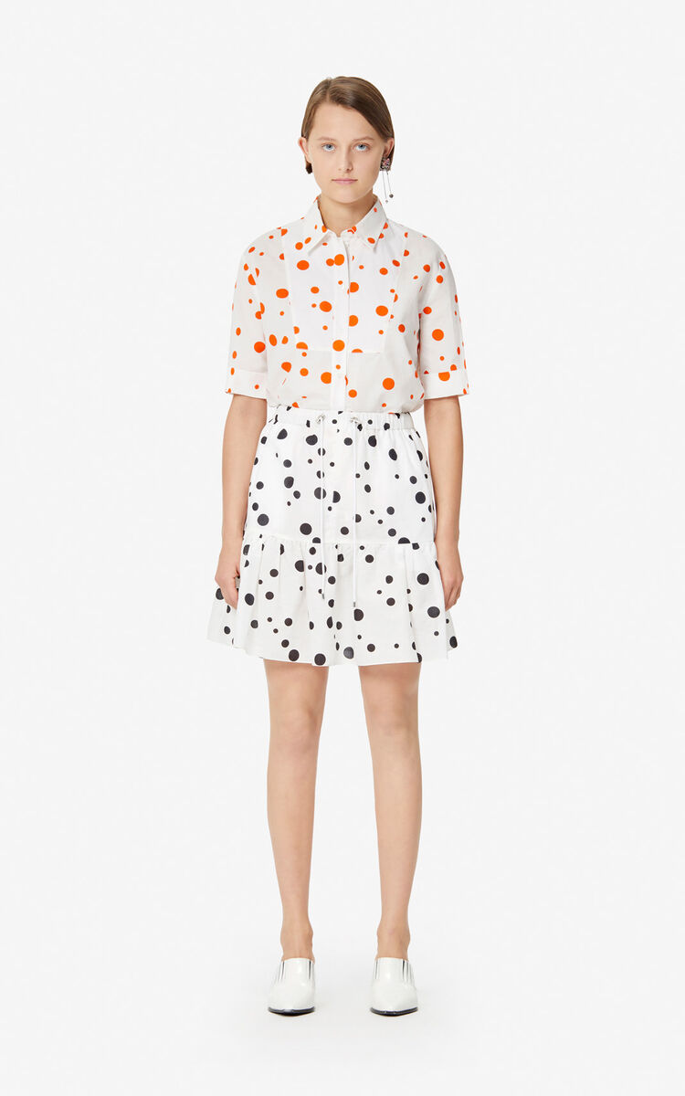 MEDIUM ORANGE 'Dots' shirt for women KENZO