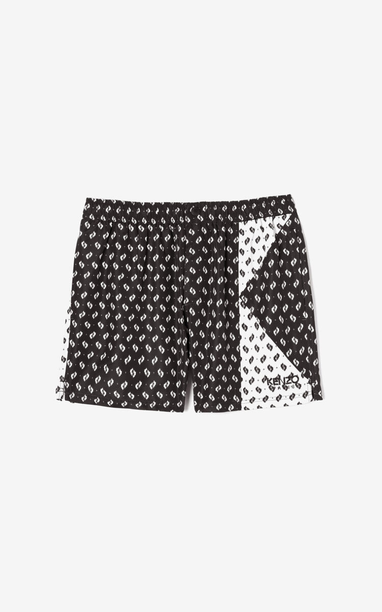 BLACK 'Ikat' swimming shorts for men KENZO