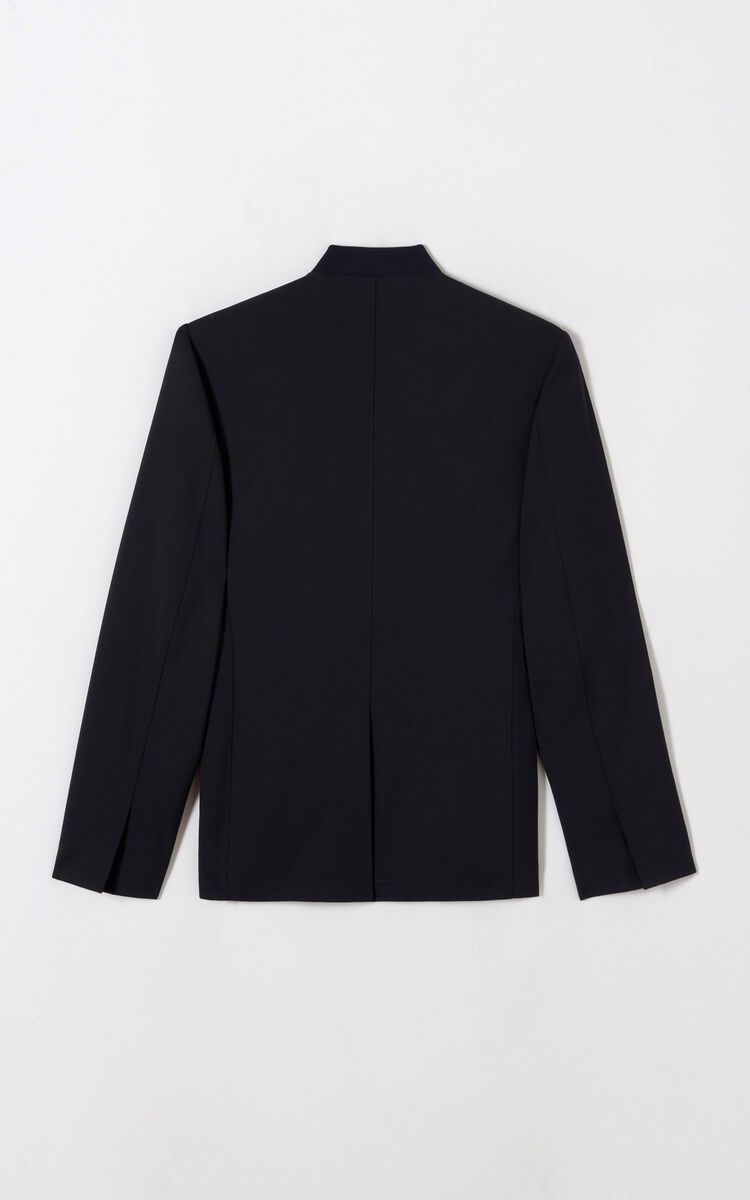 MIDNIGHT BLUE High-collar jacket for women KENZO