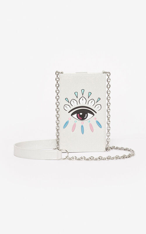 SILVER Eye phone case and chain for women KENZO