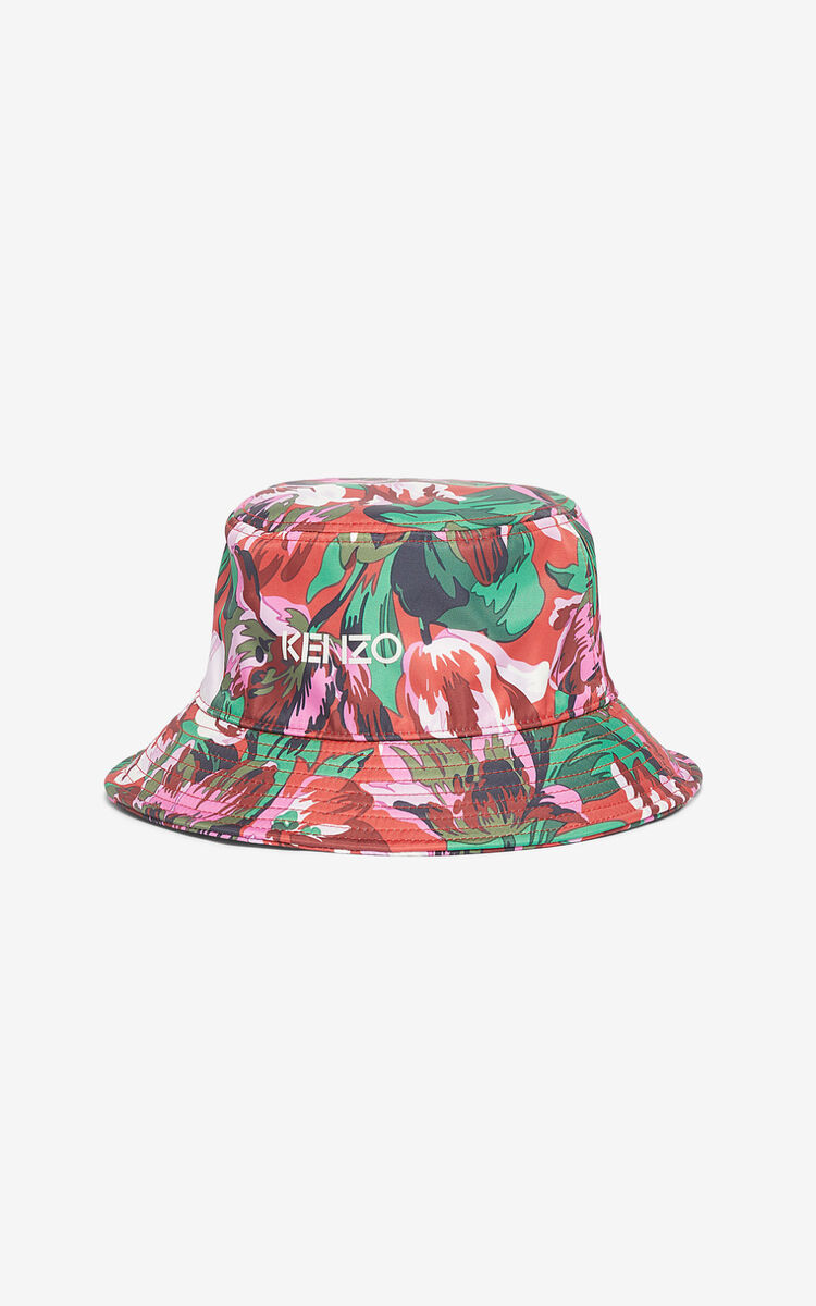 MEDIUM RED 'Tulipes' sunhat for unisex KENZO