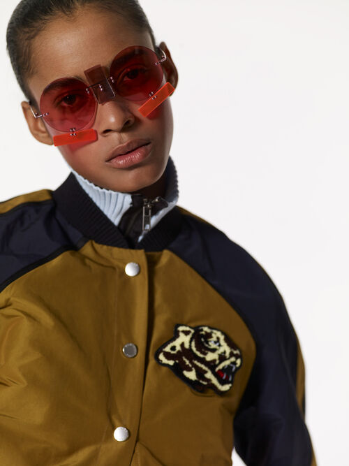 PALE KHAKI 'Varsity' Letter Jacket for women KENZO