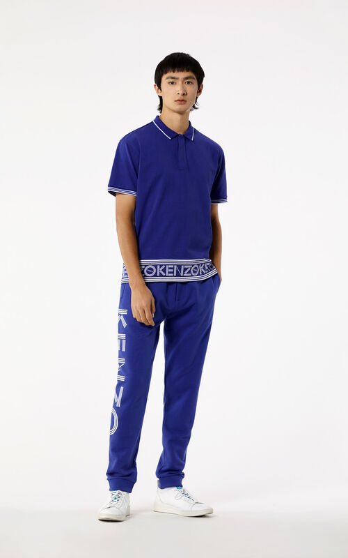 FRENCH BLUE KENZO Logo Polo for men