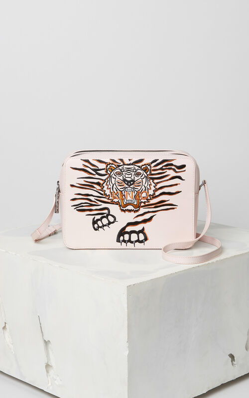 FADED PINK 'Crawling Tiger' Camera Bag for unisex KENZO