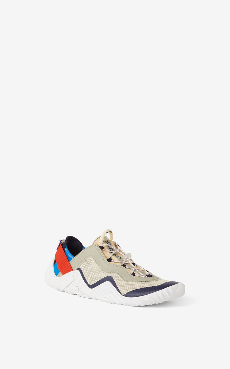 CREAM KENZO Sport Wave mesh trainers for unisex