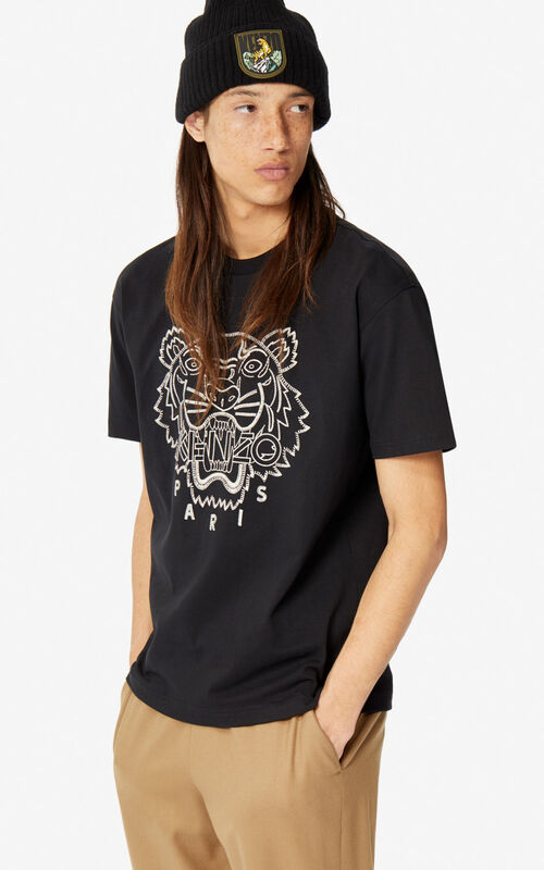 BLACK 'Capsule Expedition' Tiger T-shirt for men KENZO