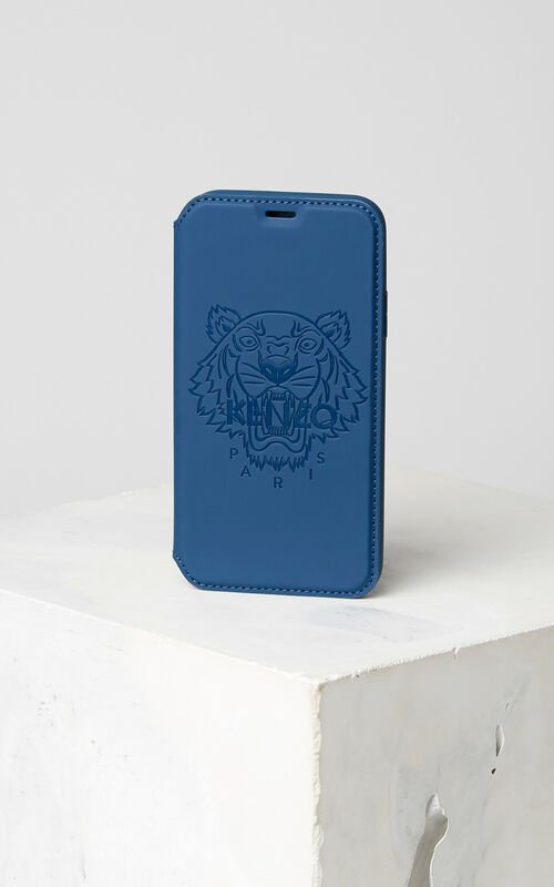 NAVY BLUE Tiger iPhone X Folio for unisex KENZO