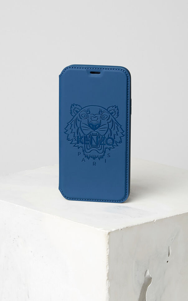 NAVY BLUE Tiger iPhone X Folio for women KENZO