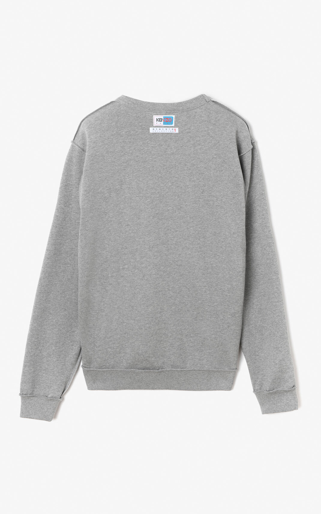 DOVE GREY Reversible KENZO Paris Sweatshirt for men
