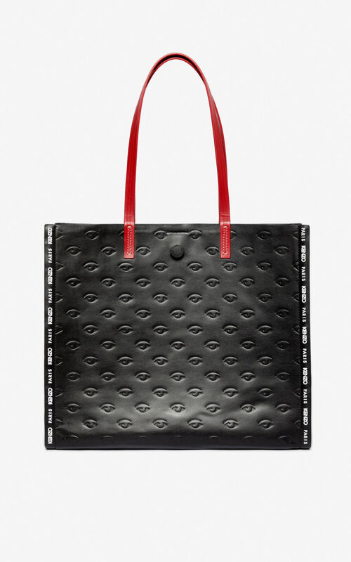 BLACK Blink multi-Eye tote bag for unisex KENZO